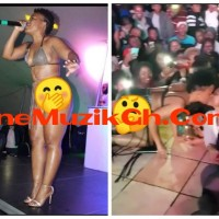 Mad OO: South Africa's Female Artiste Kisses Her Fans One By One During Performance (Video) | OneMuzikGh
